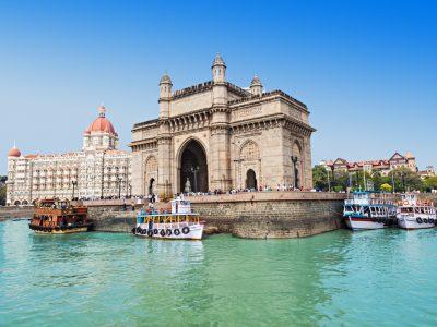 The Taj Mahal Palace Hotel and Gateway of India in Mumbai, India