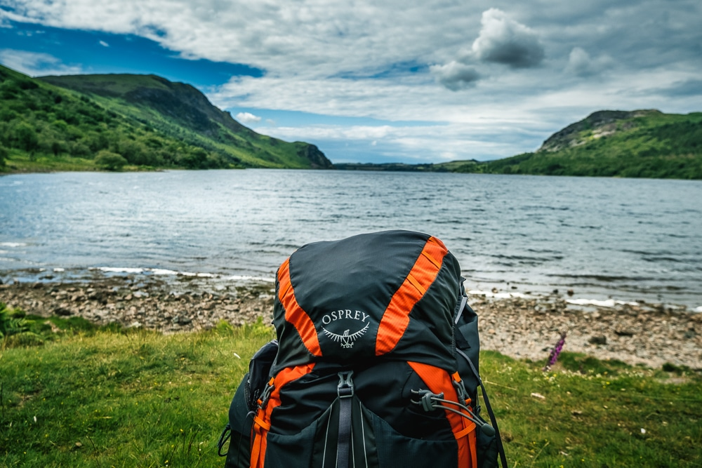 A backpack as part of our Coast to coast guide