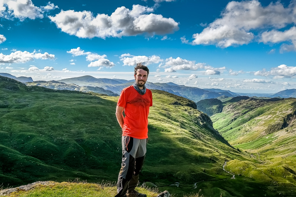 Peter in the Lake District during the Coast to Coast