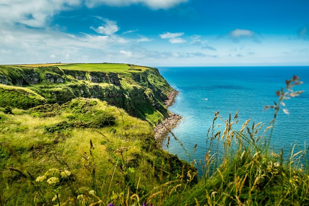 St Bees Head cliffs on the Coast to Coast