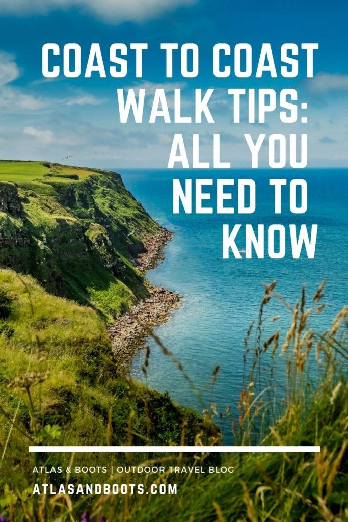 Coast to Coast Walk tips Pinterest pin