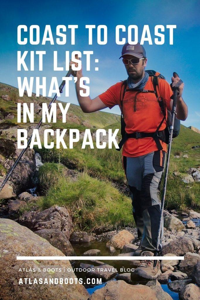 Coast to Coast kit list Pinterest pin
